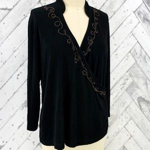 Chico's Travelers Crossover Top